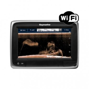 Raymarine a78 7 Multifunctional Display with Built-in DownVision Fishfinder and Wi-Fi, No Transducer, No chart